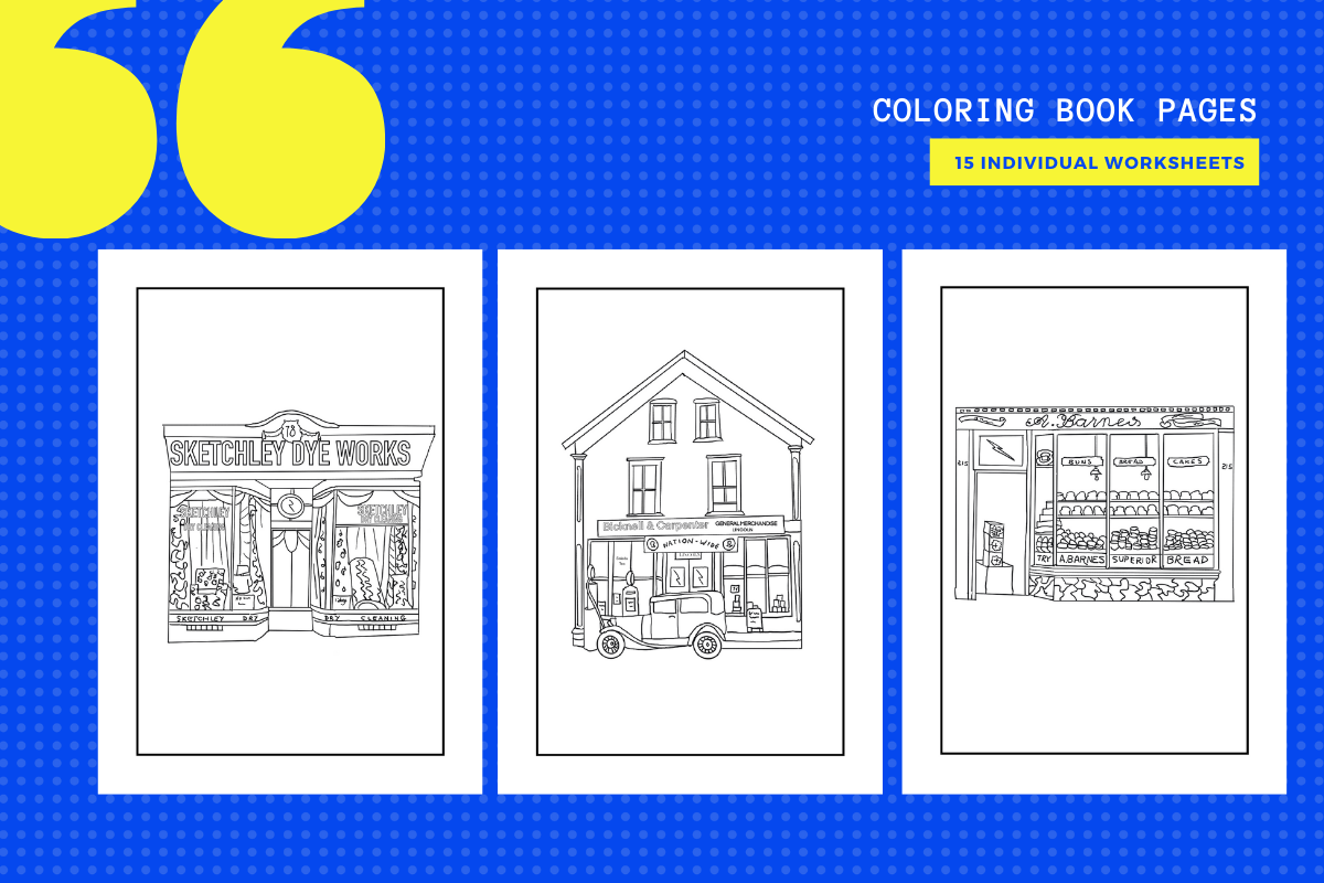 Download Free Store Shops Colouring Pages X 15 Graphic By Yumbeehomeschool for Cricut Explore, Silhouette and other cutting machines.