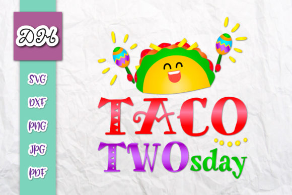 Download Free Taco Two Sday 2nd Birthday Print Cut Grafico Por Digitals By for Cricut Explore, Silhouette and other cutting machines.