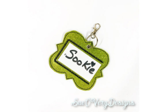 Tag in the Hoop - Quatrafoil Accessories Embroidery Design By Sue O'Very Designs
