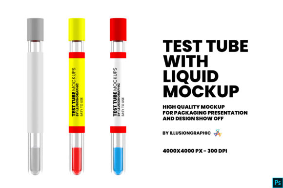 Download Free Test Tube With Liquid Mockup Graphic By Illusiongraphicdesign for Cricut Explore, Silhouette and other cutting machines.