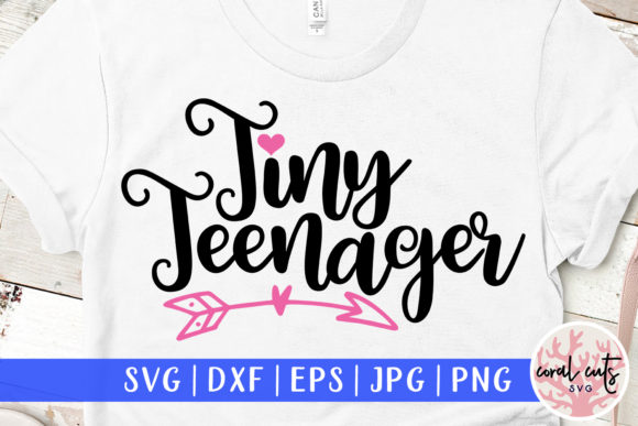 Download Free Tiny Teenager Graphic By Coralcutssvg Creative Fabrica for Cricut Explore, Silhouette and other cutting machines.