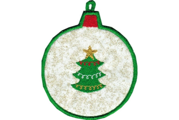 Tree Ornament Coaster Christmas Embroidery Design By Sue O'Very Designs
