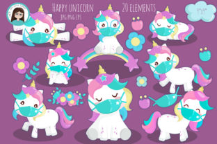 Download Free Unicorn With Mask Clipart Grafik Von Cutelittleclipart for Cricut Explore, Silhouette and other cutting machines.