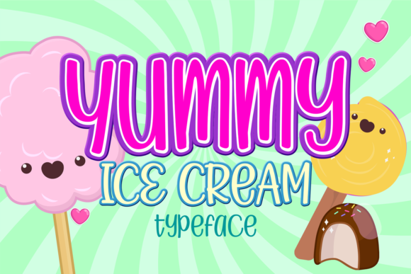 Print on Demand: Yummy Ice Cream Display Font By brithostype