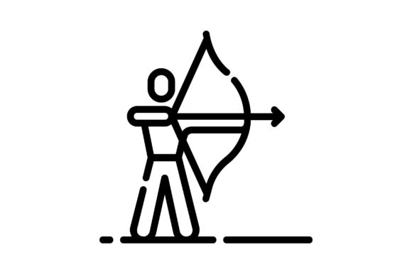 Print on Demand: Archery Graphic Icons By khld939