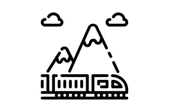 Download Free Train Shipping Graphic By Khld939 Creative Fabrica for Cricut Explore, Silhouette and other cutting machines.