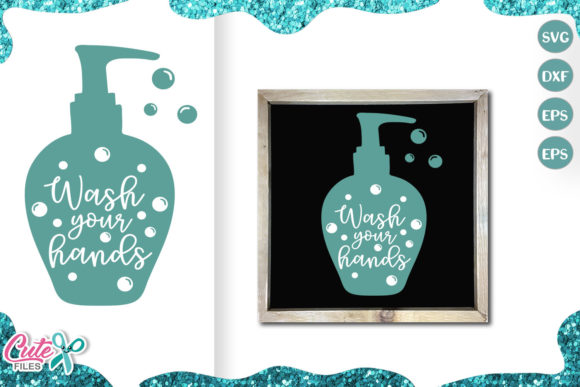 Download Free Wash Your Hands Social Distancing Graphic By Cute Files for Cricut Explore, Silhouette and other cutting machines.