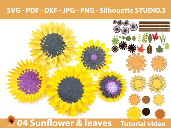 Download Free 3 Small Flower Svg Designs Graphics for Cricut Explore, Silhouette and other cutting machines.