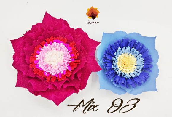 05 Mix Paper Flowers Templates Graphic By Lasquare Info