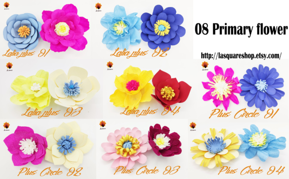 Download Free 08 Giant Paper Flowers Template Graphic By Lasquare Info SVG Cut Files