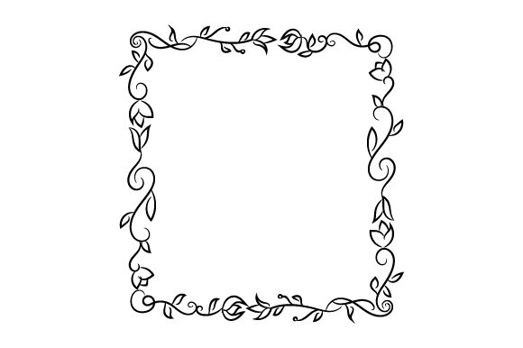 Frame Border Designs & Drawings Craft Cut File By Creative Fabrica Crafts