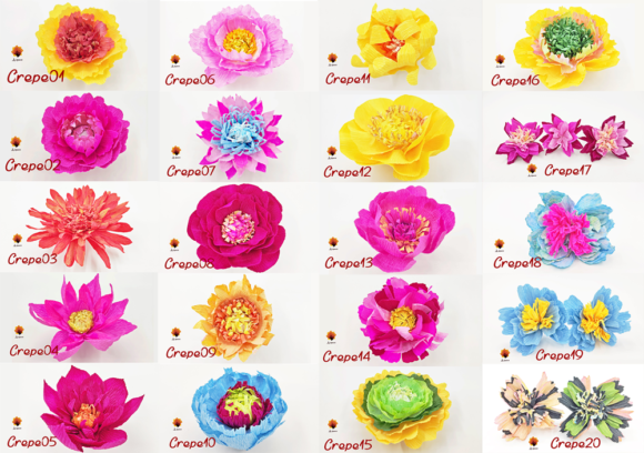 Download Free 20 Crepe Paper Flower Templates Grafico Por Lasquare Info for Cricut Explore, Silhouette and other cutting machines.