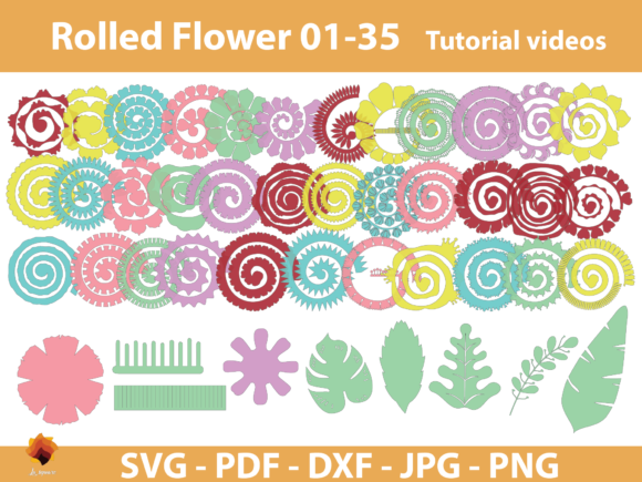 35 Rolled Flower Paper Flower Templates Graphic By Lasquare