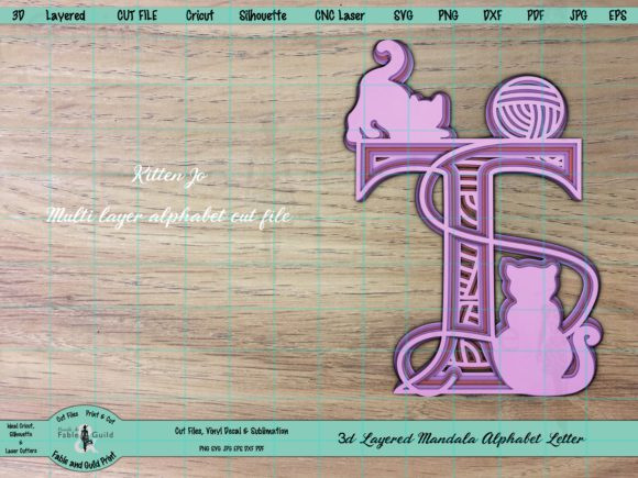 3d Letter Cricut Graphic By Fable And Guild Print Creative