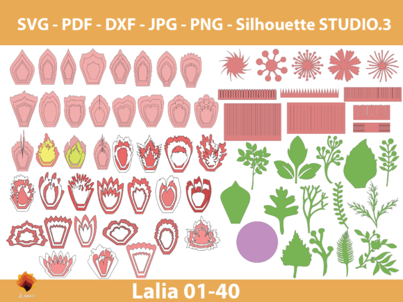 Download Free 3 Svg Bundle Flower Designs Graphics for Cricut Explore, Silhouette and other cutting machines.