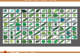 Print on Demand: 93 Paper Leaves Templates Graphic 3D Flowers By lasquare.info