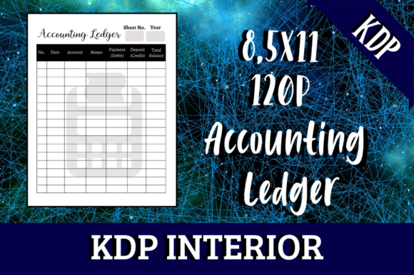 Print on Demand: Accounting Ledger | KDP Interior Graphic KDP Interiors By Hungry Puppy Studio