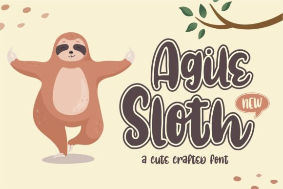 Print on Demand: Agile Sloth Display Font By Azetype