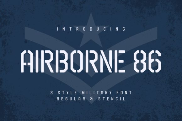 Airborne 86 Font By Almarkhatype Creative Fabrica