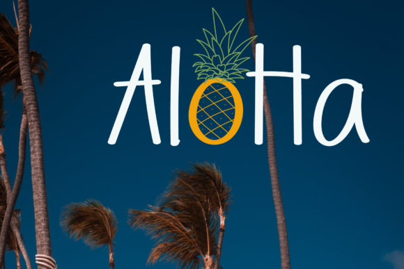 Download Free Aloha Font By Wanida Toffy Creative Fabrica SVG Cut Files