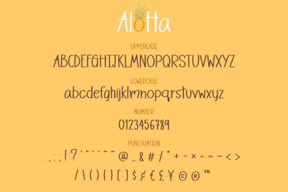 Download Free Aloha Font By Wanida Toffy Creative Fabrica for Cricut Explore, Silhouette and other cutting machines.