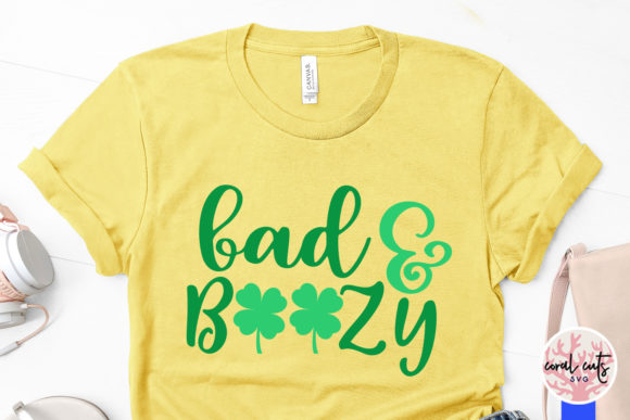 Download Free Bad Boozy Cut File Graphic By Coralcutssvg Creative Fabrica for Cricut Explore, Silhouette and other cutting machines.