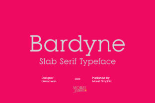 Print on Demand: Bardyne Slab Serif Font By Moreltype