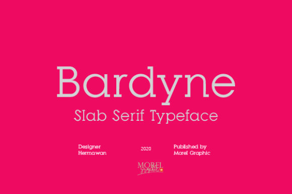Print on Demand: Bardyne Slab Serif Font By morelgraphic