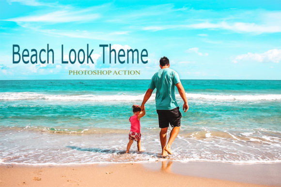 Beach Look Theme Graphic Actions & Presets By RS DESIGN
