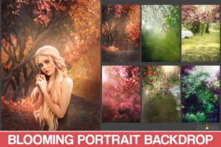 Blooming Backdrop Photoshop Background Graphic Actions & Presets By 2SUNS