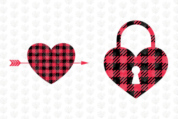 Download Free Buffalo Plaid Love Clipart Graphic By Coralcutssvg Creative for Cricut Explore, Silhouette and other cutting machines.