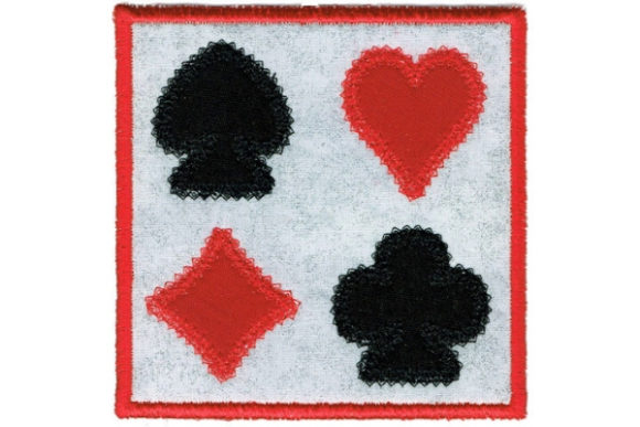 Card Square Coaster Shapes Embroidery Design By Sue O'Very Designs