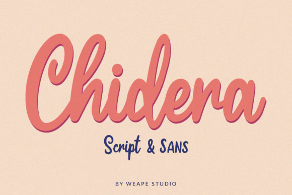 Print on Demand: Chidera Script & Handwritten Font By Weape Design