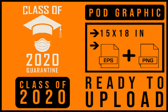 Print on Demand: Class of 2020 Quarantine Graphic Print Templates By smnlbr34