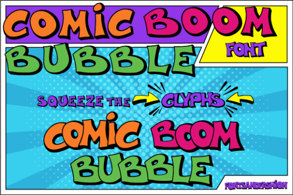 Print on Demand: Comic Boom Bubble Display Font By Fontsandfashion