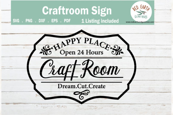 Craftroom Sign Making Decal  Gráfico Crafts Por redearth and gumtrees
