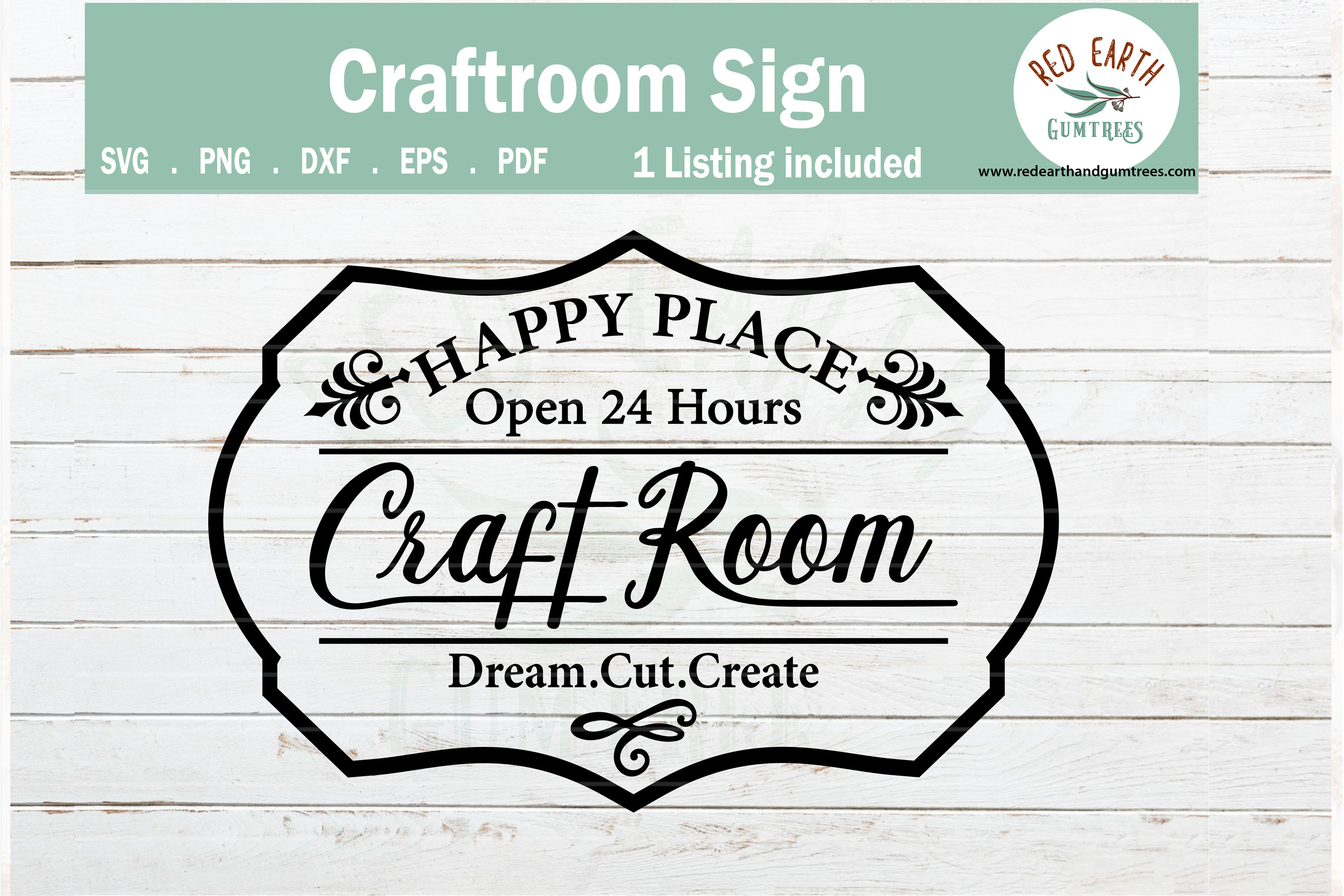 Download Free Craftroom Sign Making Decal Graphic By Redearth And Gumtrees for Cricut Explore, Silhouette and other cutting machines.