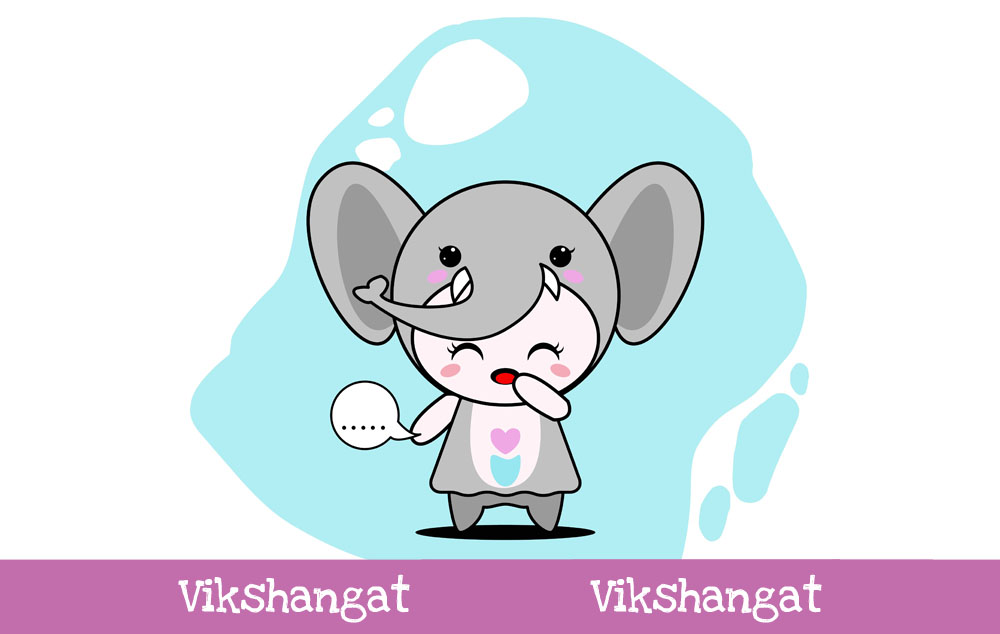 Download Free Cute Elephant Character Vector Mascot Graphic By Vikshangat for Cricut Explore, Silhouette and other cutting machines.
