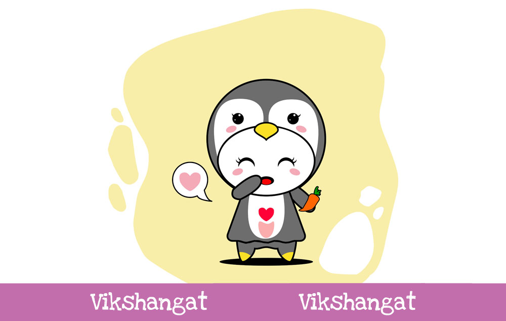 Download Free Cute Penguin Character Vector Mascot Graphic By Vikshangat for Cricut Explore, Silhouette and other cutting machines.