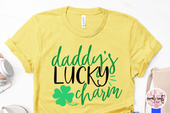 Download Free Daddy S Lucky Charm Svg Cut File Graphic By Coralcutssvg for Cricut Explore, Silhouette and other cutting machines.