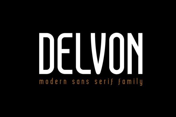 Print on Demand: Delvon Sans Serif Font By madeDeduk