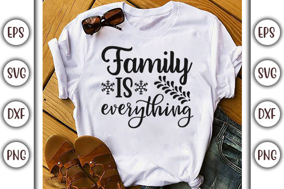 Download Free Doormat Design Family Is Everything Graphic By Graphicsbooth for Cricut Explore, Silhouette and other cutting machines.