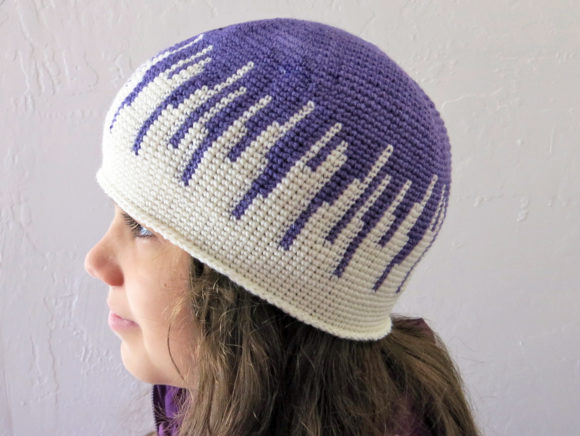 Drip Drop Beanie Crochet Pattern Graphic Crochet Patterns By Knit and Crochet Ever After