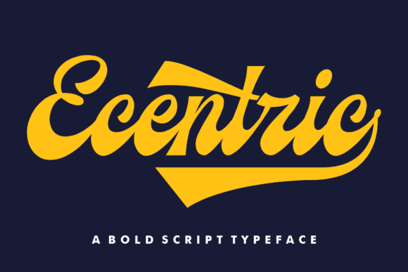 Ecentric Font By Redystudio Creative Fabrica