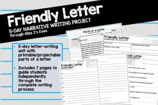 Friendly Letter: 5-Day Writing Unit Graphic 2nd grade By hi miss i