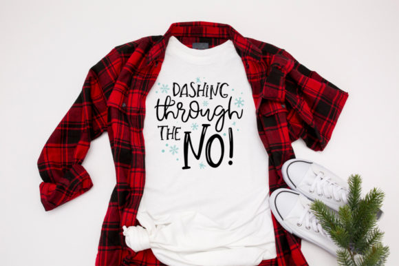 Download Free Funny Dashing Through The No Graphic By Simply Cut Co for Cricut Explore, Silhouette and other cutting machines.