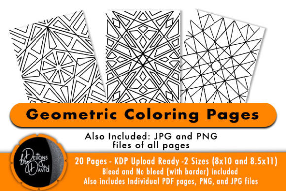 Print on Demand: Geometric Pattern Coloring Pages KDP Graphic KDP Interiors By Designs By David