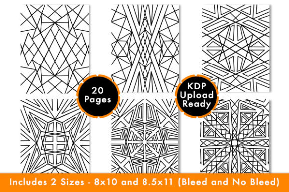 Download Free Geometric Pattern Coloring Pages Kdp Graphic By Designs By David Creative Fabrica for Cricut Explore, Silhouette and other cutting machines.