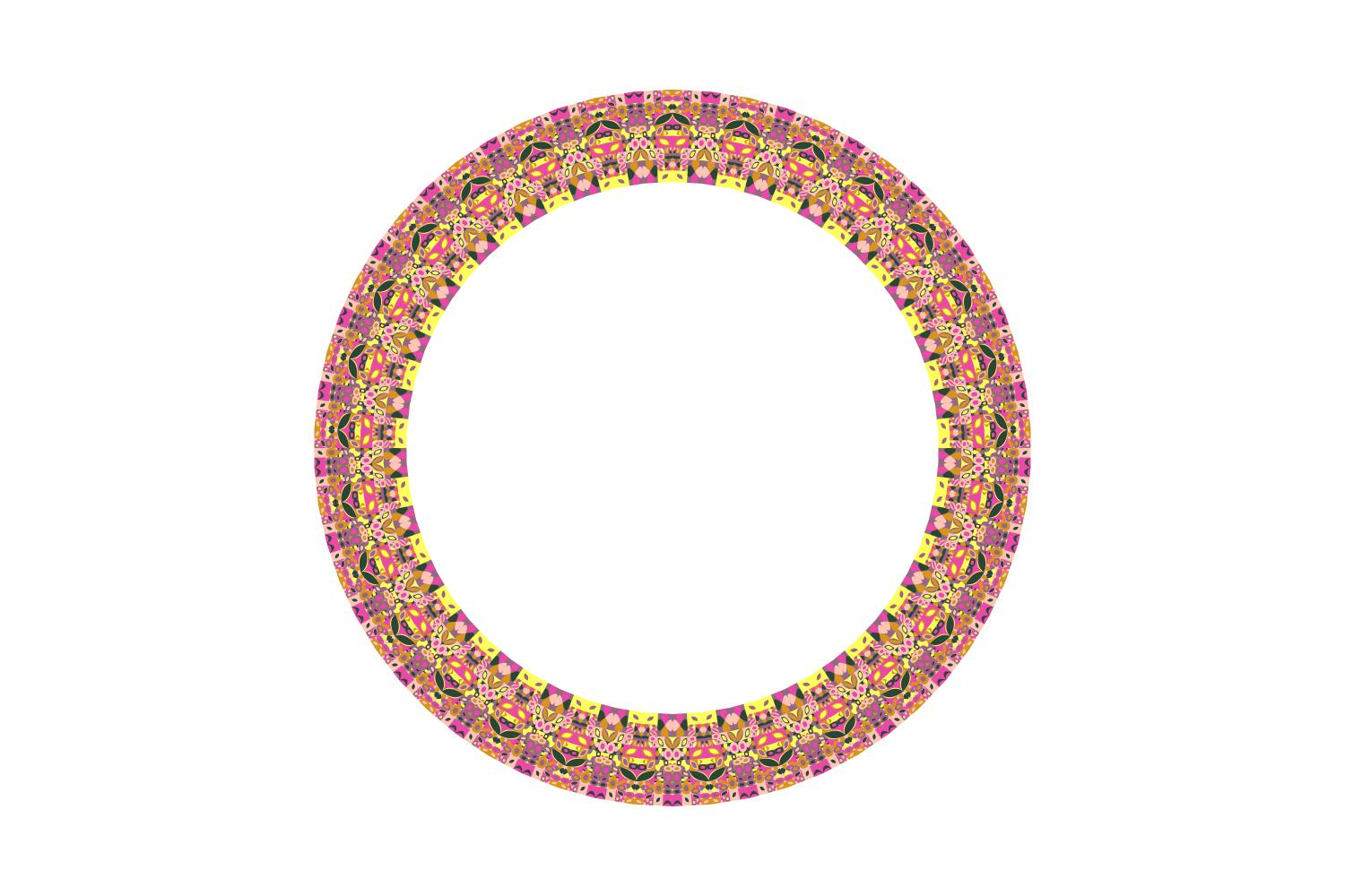 Download Free Geometrical Mosaic Wreath Graphic By Davidzydd Creative Fabrica for Cricut Explore, Silhouette and other cutting machines.