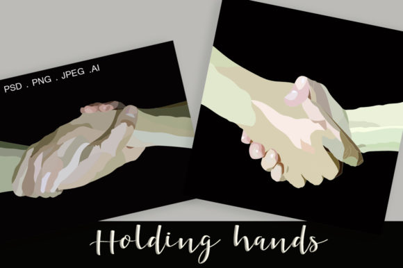 Download Free Handshake And Holding Hands Vector Art Graphic By Vikta55 for Cricut Explore, Silhouette and other cutting machines.